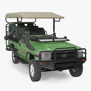 Toyota Land Cruiser Safari Open Sided Green Clean model