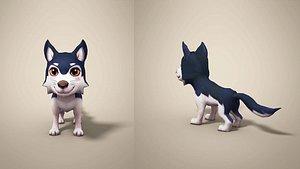 wolf cartoon model