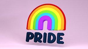 3D Pride icon model