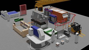 3D equipment metalworking factory