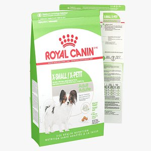 3D Royal Canin X-Small Animal Food