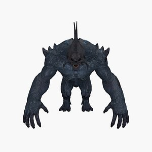 3D gorilla monster