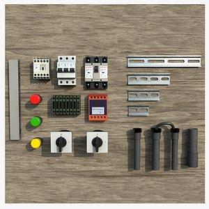 3D Electric Fuse Boxes Parts model