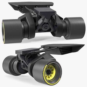 3D Electric Skateboard Belt Motor Kit model