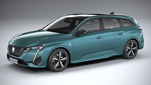 Peugeot 308 SW 2022 3D model