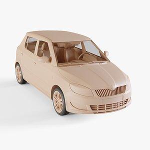 2011 Skoda Fabia 3D model