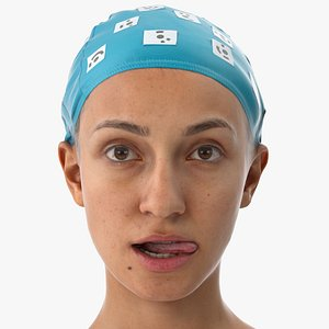 Joy Human Head Lip Wipe Left AU37 Clean Scan(1) 3D model