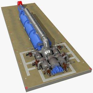 Steam Driven Turbine Generator 3D model