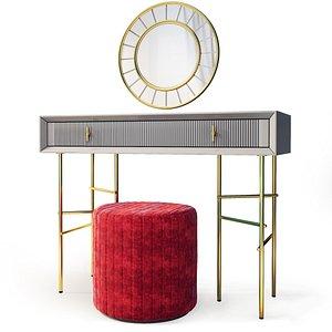 dressing table vanity astoria 3D