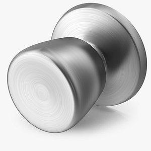3D model door knob steel