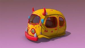 low-poly car 3D model