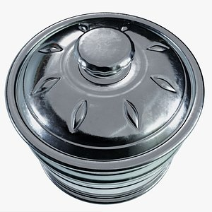Free Antique Silver Canister 3D model