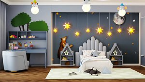 Childroom Bedroom Design 3D model
