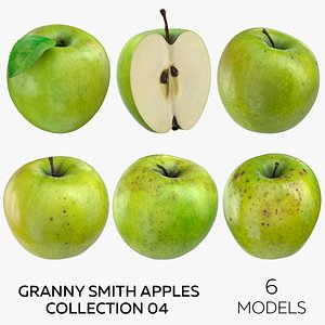 Granny Smith Apples Collection 04 - 6 models 3D model