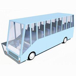cartoon bus car model