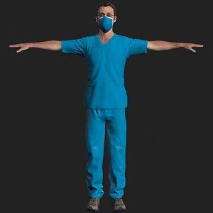 3D doctor male model