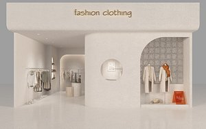 3D Clothing Store 2 model