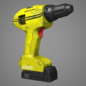 eletric screwdriver drill 3D