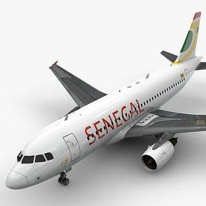 3D AirbusA319-100AIR SENEGALL1433 model