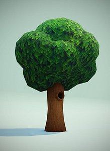 tree hollow 3D model