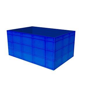 Blue crate 3D model