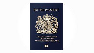 3D British Passport