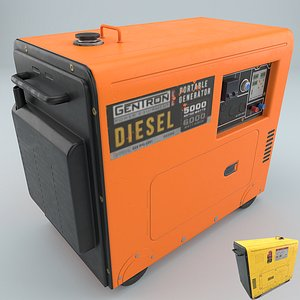 3D portable diesel generator