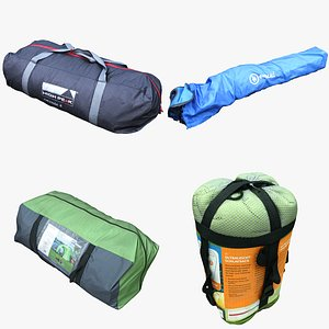 Camping Bag Collection 02 3D model