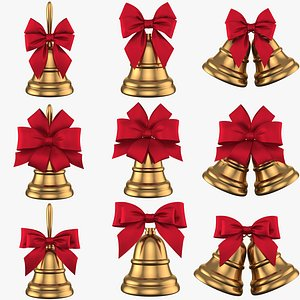 Collection Cristmas Bell 9 in 1 PBR 3D model