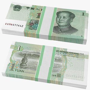 Pack of Chinese 1 Yuan 2019 Banknotes model