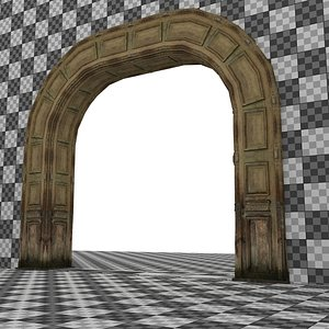 3D Wooden Arch 04 model