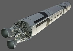 titan ii glv rocket 3D