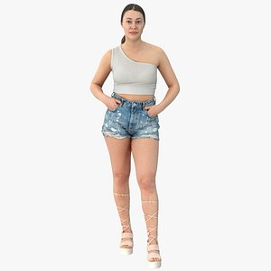 3D model Freya Casual Summer Idle Pose 02