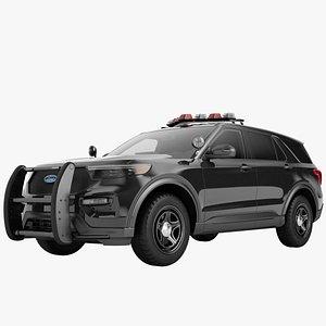 Ford Explorer 2020 Police 07 3D model