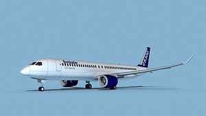 3D model Airbus A220-300 Corporate 1