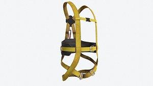 3D safety parachute safe model