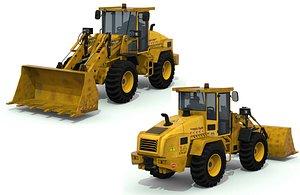 3D bulldozer truck model