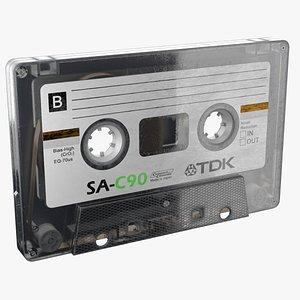 Audio cassette PBR 3D model
