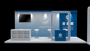 booth exhibition 3x6 3x3 3D