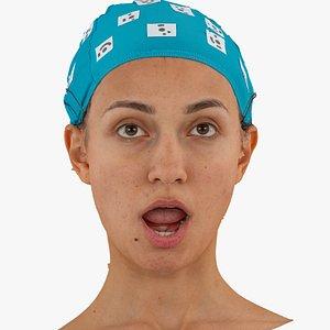 3D joy human head mouth model