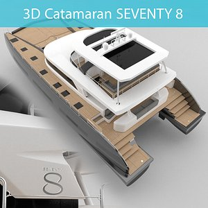 3D Catamaran Lagoon 78 SEVENTY 8 3D