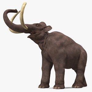 3D model Mammoth Roar Pose