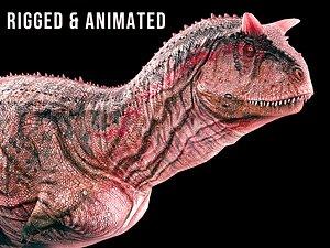 carnotaurus dinosaur monster 3D model