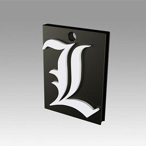 death note logo 3D model