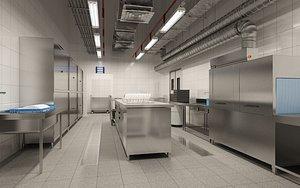 3D kitchen room