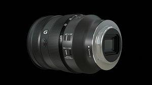 3D Sony FE 24-105mm f4 G OSS Lens