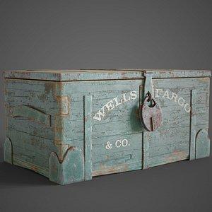 trunk box lock 3D model