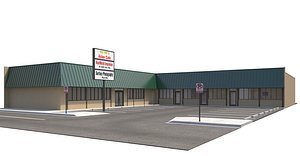 3D store mall retailer model
