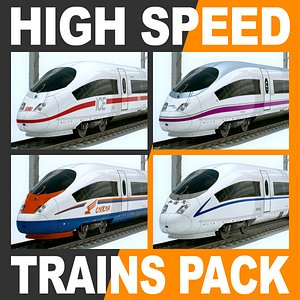 3d speed trains - siemens model