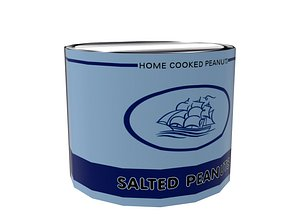 3D Salted Peanuts Can model